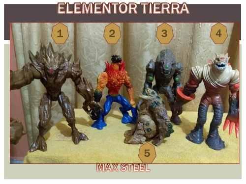 Figuras De Coleccion Max Steel - Elementor Tierra