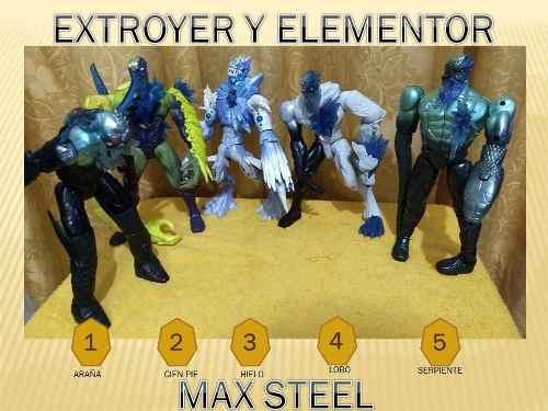 Figuras De Coleccion Max Steel - Extroyer Y Elementor Hielo