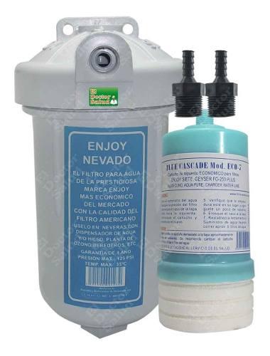 Filtro De Agua Enjoy 7rp Con 2 Conectores Neveras Ozono