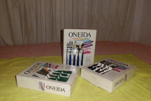 Juego De Cubiertos Oneida Acero Inoxidable Original 20 Pzas