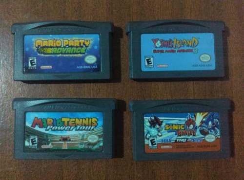 Juegos De Gameboy Advance, Mario, Yoshi, Sonic.