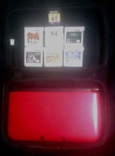 Nintendo 3ds Xl + R4 + 5 Juegos Originales + Memoria 4gb.