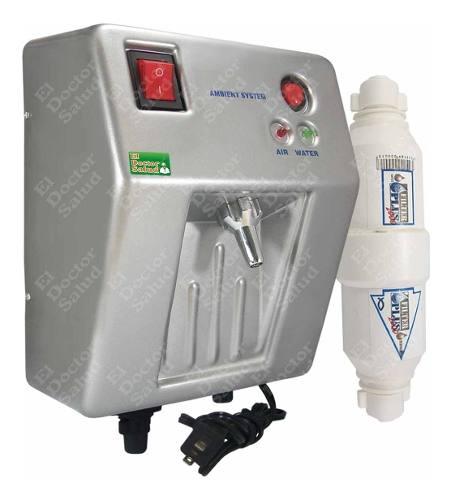 Planta Ozono Ambient Dual Fija Pl Filtro Agua Compacto Kit