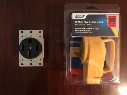Enchufes De Seguridad Plantas Eléctricas 50 Y 30 Amperios