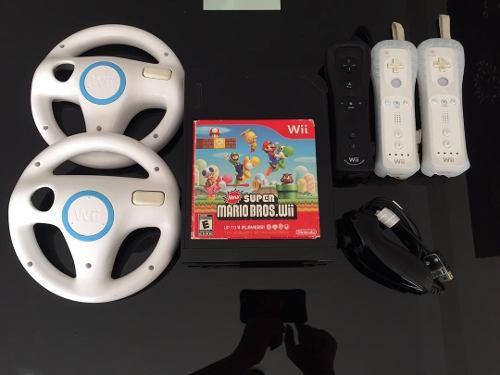 Nintendo Wii Negro Usado En Buen Estado