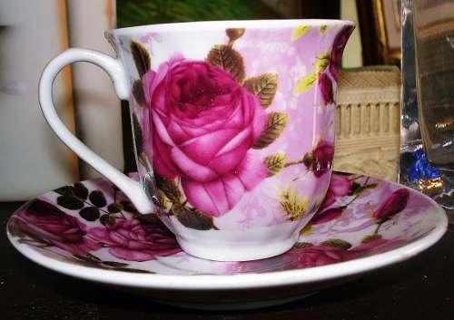 Taza Y Plato De Porcelana Marca Luxury Collection En Perfect