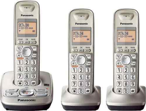Telefono Panasonic Inalambrico 3 Unidades + Dect 6.0 + New