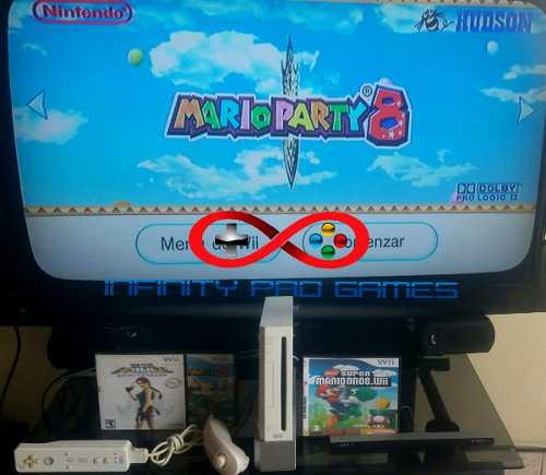 Wii Full Juegos Su Control + 2 Controles Gamecube Garantia
