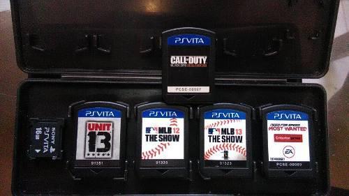 5 Juegos,originales Ps Vita + 1 Tarjeta De Memoria Sony 16g