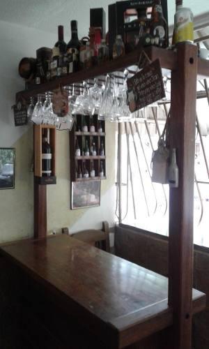 Bar Rustico Tipo Country En Madera Saman