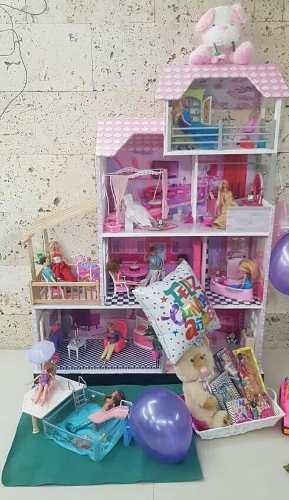 Casa De Juegos Para Muñecas Barbie Realizada Con Mdf Y