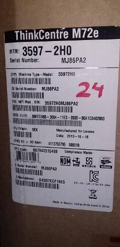 Computadora Lenovo Thinkcenter M72e, Totalmente Nueva