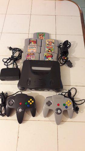 Nintendo 64, 2 Controles, 4 Juegos Caso Sin Uso