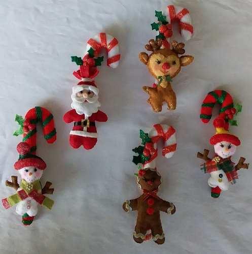 Adornos Navideños Para El Árbol De Navidad En Fieltro