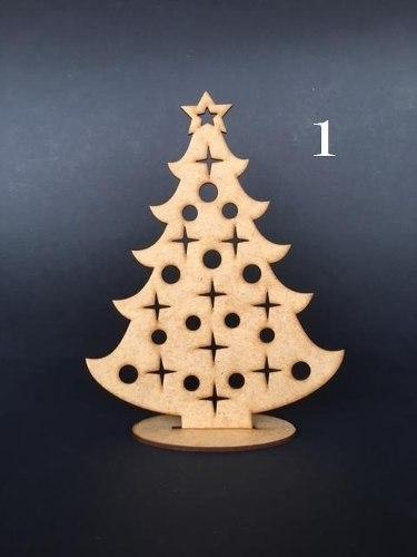 Arbolitos Navidad En Mdf Crudo De 3mm Corte Laser 20cmx15cm