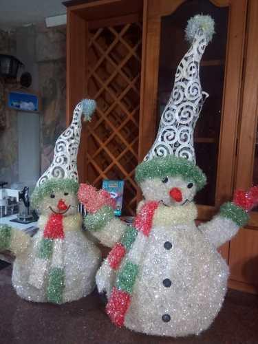Bellisimos Muñecos De Nieve -navidad En Fibra De Vidrio