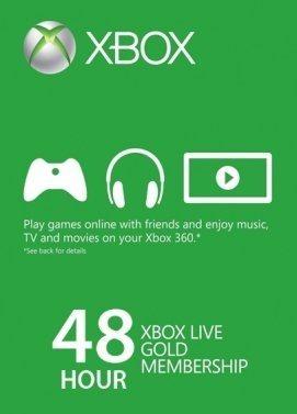 Tarjetas Recarga - Xbox Live Gold 48 Horas
