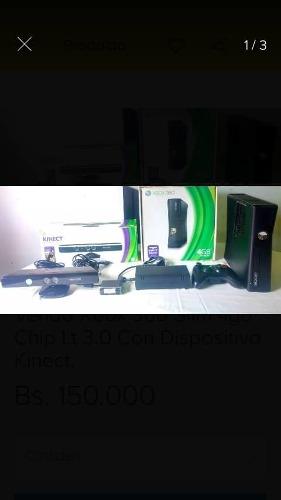 Xbox 360 Slim Con Todos Sus Accesorios Y Juegos Como Nuevo
