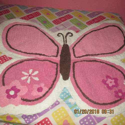 Alfombra De Mariposa Para Cuarto De Niña