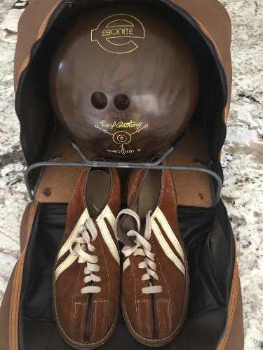 Bola De Bowling Boliche Ebonte 9 Lb. Con Bolso Y Zapatos #39