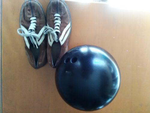 Bola De Bowling Manhatan Rubber 13 Lbs Y Zapatos 38