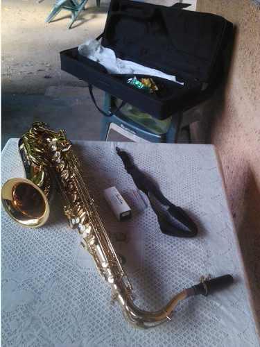 Saxofon Tenor Bb Dorado Nobre Wd Oferta 200 Verdes