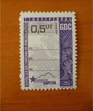 Timbre Fiscal Fiscales 0,05ut Distrito Capital Preciopor C/u