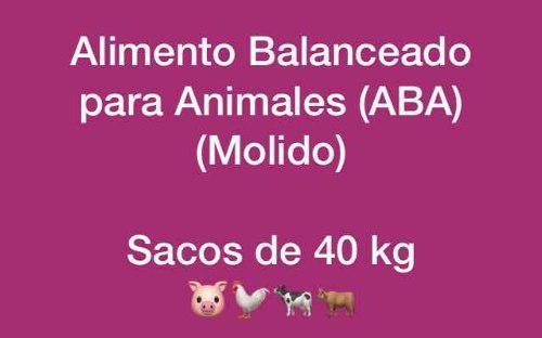 Alimento Balanceado Para Animales (sacos De 40kg)