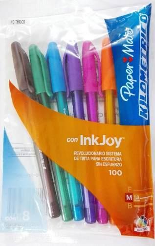 Bolígrafos Paper Mate De Colores Estuche Por 8 Unidades