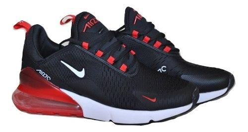 air max 270 rojo con negro