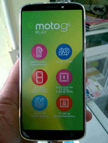 Moto G6 Play Xt1922 32gb Nuevo (170 Verd)