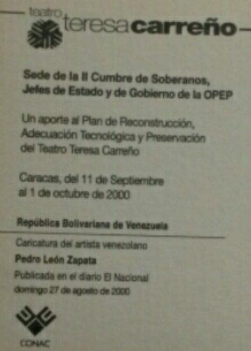 Postal De Pedro Leon Zapata En Homenaje Al Teresa Carreño