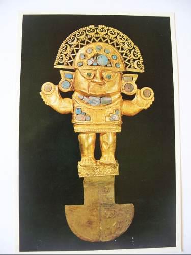 Postales Antiguas Del Museo Oro Del Peru (1974) Coleccion