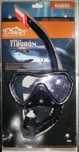 Set De Buceo (careta Y Snorkel) Ecology Modelo Tiburon