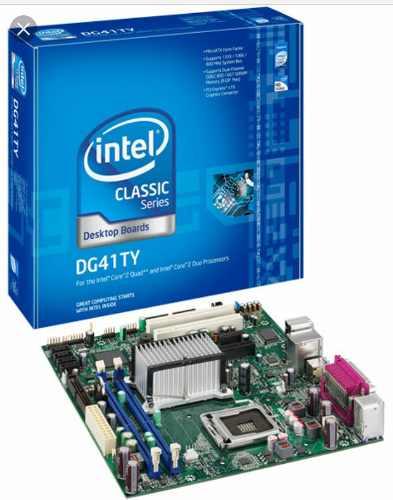 Tarjeta Madre Intel Dg41ty + Core 2duo E + Memoria 2 Gb