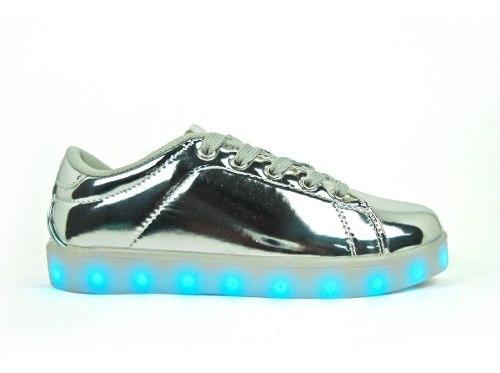 Zapato Deportivo Luces Led + Usb Juvenil 35 Al 40