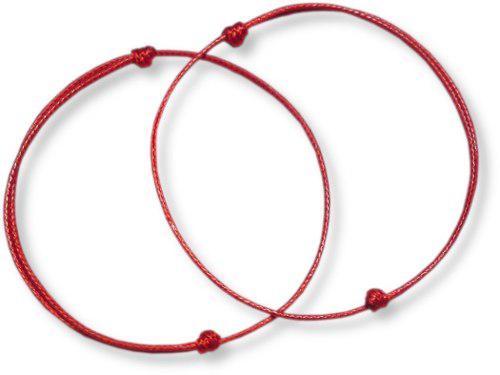 12 Pares De Pulseras Hilo Rojo (12 Pares)