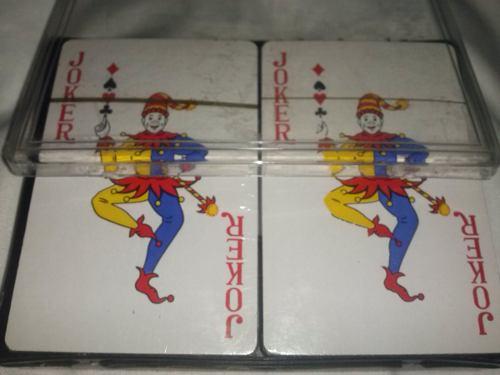 Barajas De Poker 100% Plasticas Y Lavables Doble Mazo