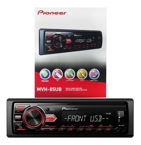 Radio Reproductor Pioneer Usb Aux Rca Mvh85ub Tienda 60v