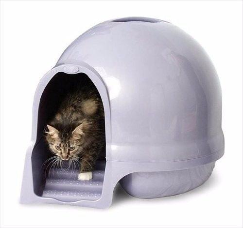 Arenero O Baño Para Gatos Dome Cleanstep, Petmate Importado