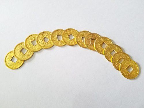 Monedas Chinas Doradas Suerte Feng Shui 2,3 Cm X30