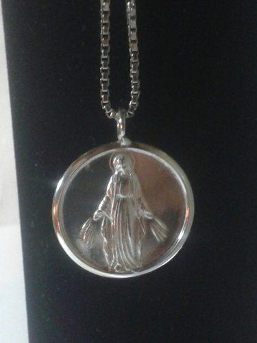 317 Sevende Medalla De La Milagrosa Con Su Cadena En Plata
