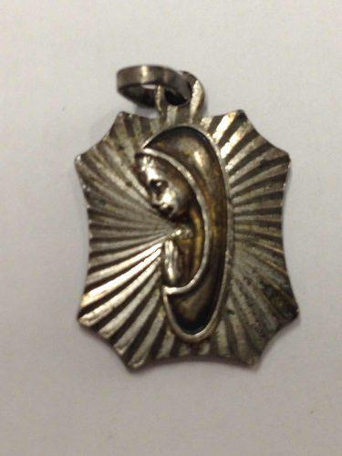 Dije Medalla De Virgencita Virgen Hecho En Plata 3.8 Gramos