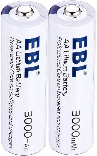 Pila Bateria Aa 1,5 Voltio Litio  Mah Alta Capacidad Ebl