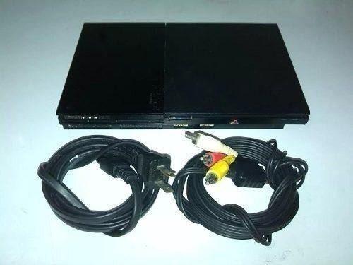 Consola De Playstation 2 Con Sus Cables Y Memoria De 8 Gb