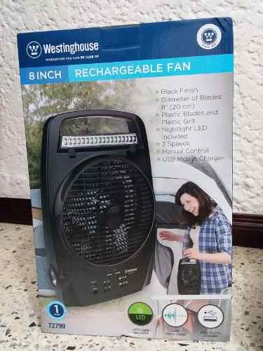 Ventilador Westinghouse Recargable Con Lámpara Led