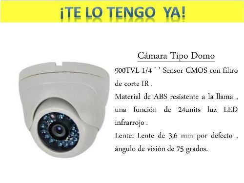 Cámara Tipo Domo Color Blanco 900 Tvl