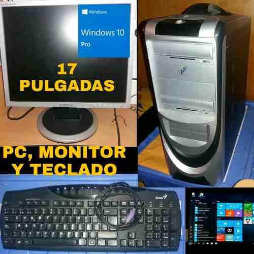 Computadora Pc Dual Core 2.2ghz + Monitor Hp 17 + Teclado