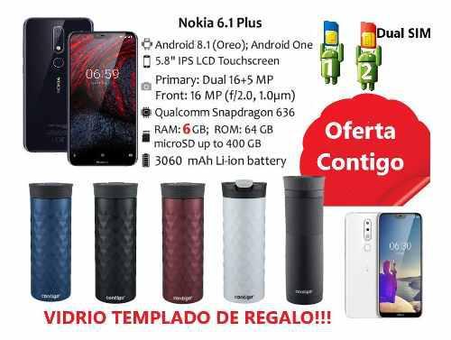Nokia 6.1 Plus6 Ram64gb +contigo+vidrio Temp+dual Sim