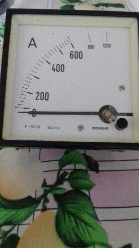 Reloj Amperimetrico Para Sistemas Electricos Marca Siemens